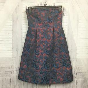 Anthropologie Paprika Brocade Sleeveless Dress 0